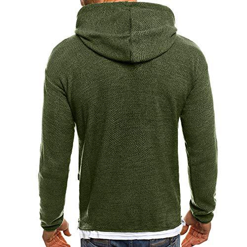 Hombres Sudadera Otoño Invierno Sólido Agujero Rasgado Jersey de Punto Sudadera con Capucha Blusa Superior: Amazon.es: Ropa y accesorios
