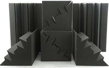 8 Stücke Schwarz Ecke Bass Falle Akustische Studio Schallabsorption Schaumstoffe