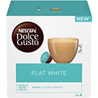 NESCAFÉ DOLCE GUSTO Flat White Coffee Pods, 16 Capsules (Pack of 3 - Total 48 Capsules, 48 Servings)