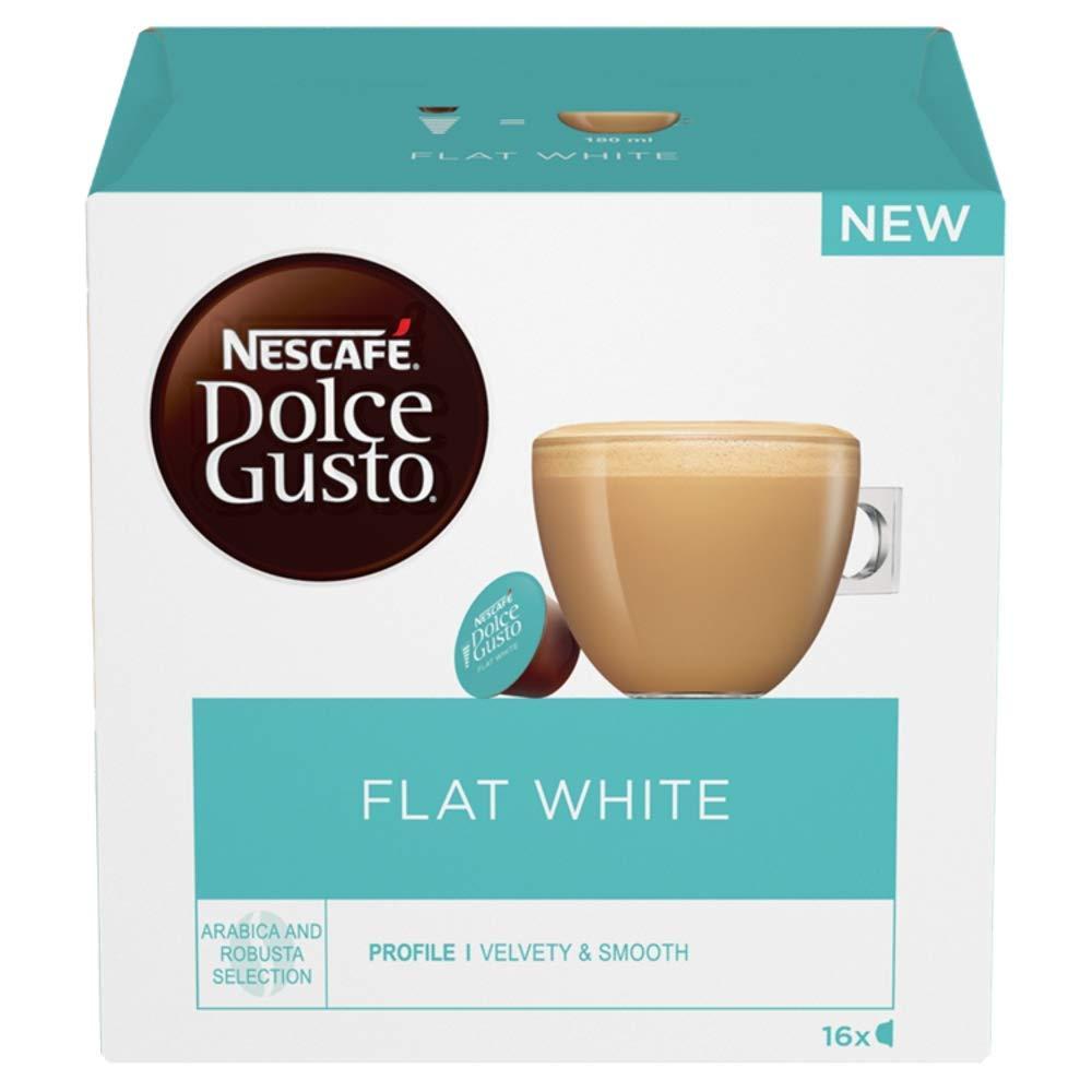 NESCAFÉ DOLCE GUSTO Flat White Coffee Pods, 16 Capsules ...