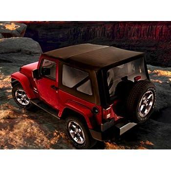 2007 2014 jeep wrangler 2 door soft top black standard fabric automotive. Black Bedroom Furniture Sets. Home Design Ideas