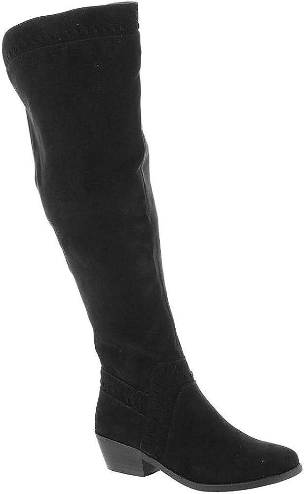 7.5 M US Black MADELINE girl Womens Luster Knee High Boots