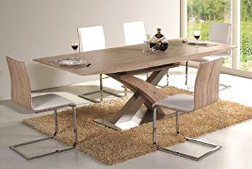 Raul Dining Table Extends To 220 Cm Sonoma Oak Amazon Co Uk