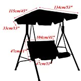 dDanke Polyester Garden Swing Chair Canopy Cover with Backrest & Cushion Cover Heavy Duty UV Block Sun Shade Waterproof for Outdoor
