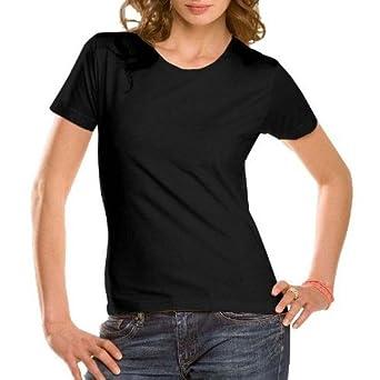 111ed407 HANES STEDMAN CLASSIC LADYFIT T SHIRT - BLACK,PINK,WHITE (SIZES 8-20):  Amazon.co.uk: Clothing