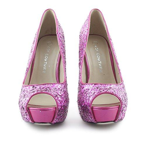 Footwear Sensation - Zapatos de vestir para mujer Morado - morado
