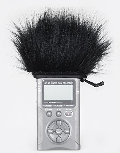 Master Sound Tascam DR-40, Windscreen Muff for recorder Tascam DR-40 to protect the record from the wind, easy to put on hand recorders, made in the EU from certified, materials by Master Sound