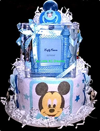 Minnie Mouse and Mickey Mouse Diaper Cake Two Tier Baby S...
