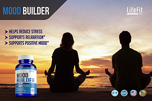 Mood Builder - Premium Mood Support Supplement | Superior Efficiency Natural Stress Relief | Vegan Dietary Herbal Calming Capsules for Men & Women | Boosts Relaxation & Overall Well being by LifeFit Labs (Image #6)