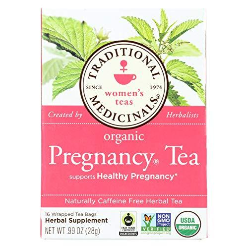 - Traditional Medicinals - Organic Pregnancy Herbal Tea, Caffeine-Free - 16 Tea Bags