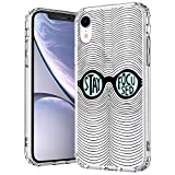 MOSNOVO iPhone XR Case, Stay Focused Quote Clear Design Printed Transparent Hard Back Case with TPU Bumper Protective Case Cover for iPhone XR