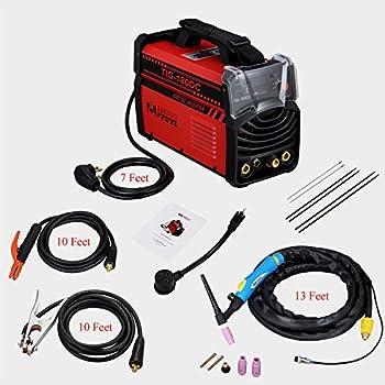 TIG-180DC, 180-Amp TIG-Torch Stick ARC IGBT Welder 230/110V Dual Voltage Input Welding Machine