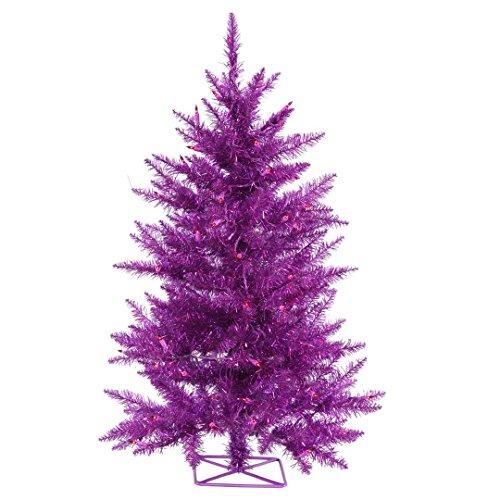 (Vickerman B986521 Artificial Christmas Tree with 115 PVC Tips, 35 Dura-lit Mini Lights, 2' x 23