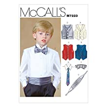McCall's Patterns M7223 Children's/Boys' Lined Vests, Cummerbund, Bow Tie and Necktie Sewing Template, CCE (3-4-5-6) by McCall's Patterns