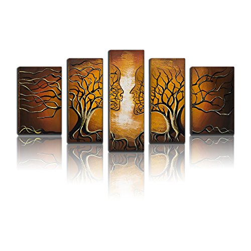 BPAGO Abstract Canvas Paintings Brown Human Tree Fantasy Canvas