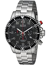 Men's 'Chronorally-S' Quartz Stainless Steel Sport Watch, Color:Silver-Toned (Model: 10227 3M NBN)