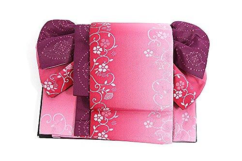 単位魅力的即席作り帯 結び帯 レディース 浴衣帯 ポリエステル 軽装帯 蝶 袷 日本製