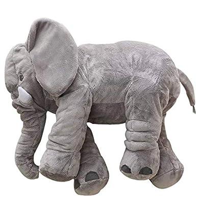 GRIFIL ZERO Big Elephant Stuffed Animal Plush Toy 25 Inches Cute XXL Size Grey Elephant Toy (Grayy): Toys & Games