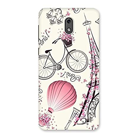 wholesale dealer 9200d 7e3b2 Balloon Cycle City Back Case Cover for Nokia 2: Amazon.in: Electronics