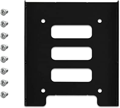 """2.5/"""" SSD HDD to 3.5/"""" Mounting Adapter Bracket Tray Dock for PC SSD Holder ATX"""