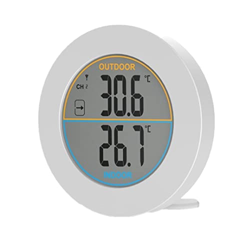Amazon.com : Round Thermometer - Digital Thermometer Indoor ...