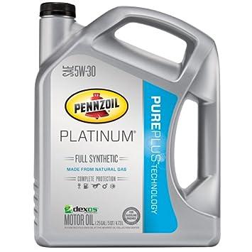 Pennzoil (550038221 - 3PK Platinum 5 W-30 Aceite de Motor Completo sintético GF-5 - 5 Quart Jarra, (Pack de 3): Amazon.es: Coche y moto
