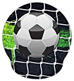 Meffort Inc Mouse Pad with Wrist Rest Support & Non-Slip Base, Durable Ergonomic Gaming Mousepad - Soccer