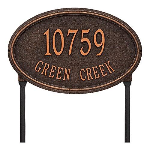 - Customized Concord OVAL Estate LAWN Address Plaque 21