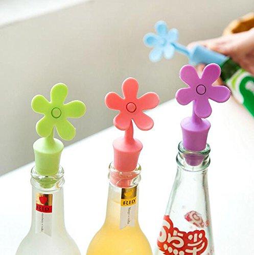 3 opinioni per Fendii 3pcs tappo del vino a forma di girasole riutilizzabile bottiglia di vino
