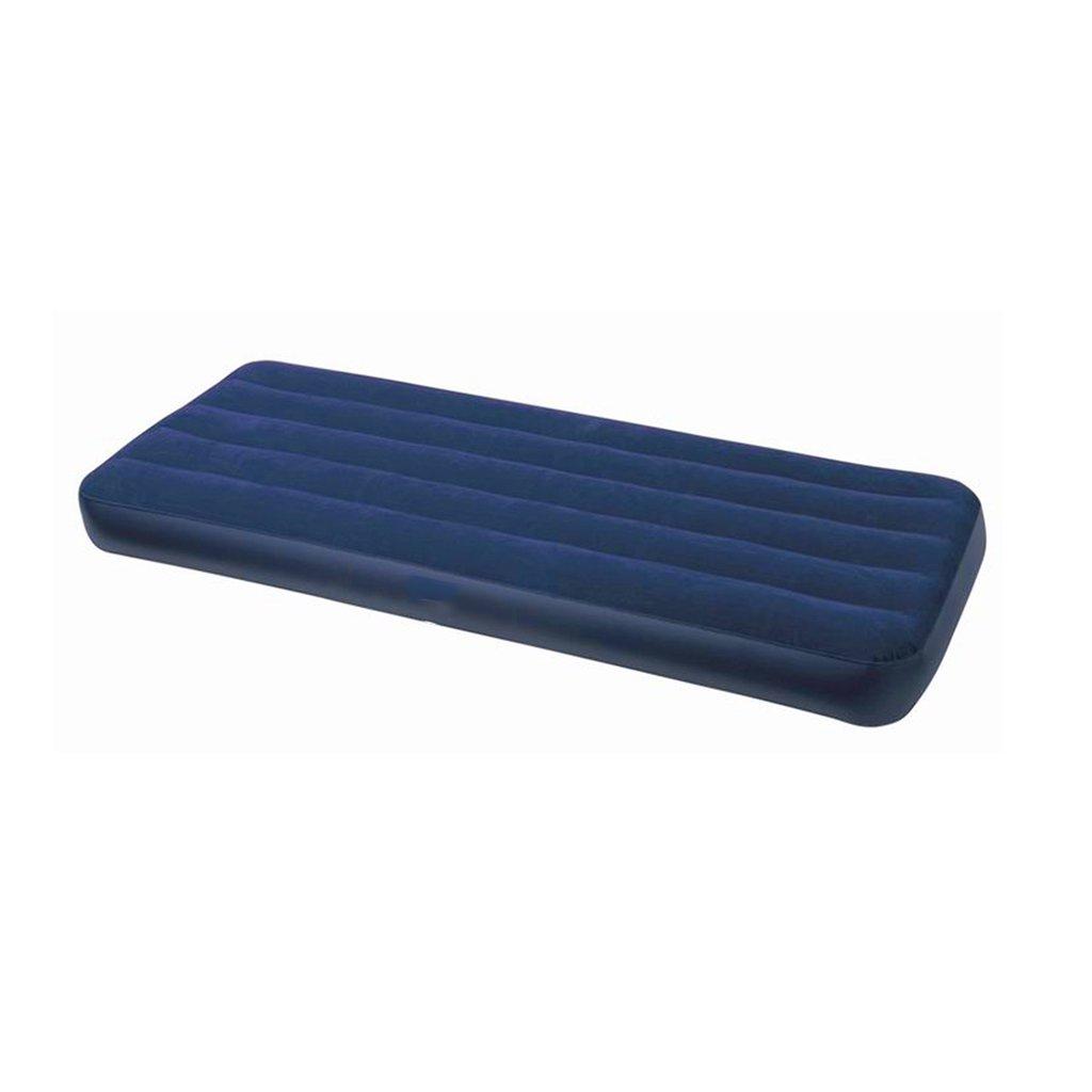 Blaues Einzelnes Aufblasbares Bett-kampierendes Reise-Luft-Bett Scharte Das Sofabett-über Nachtgäste-Hochleistungsluftbett 191  76  22cm
