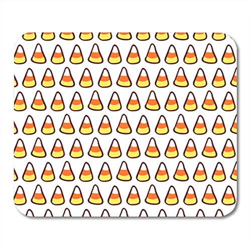 HZMJPAD Orange Candy Corn on White Halloween Sketchy Tileable Mouse Pad 8.6 X 7.1 in