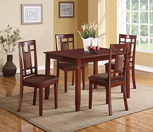 1PerfectChoice Sonata 5 Pieces Cherry Dining Table Set
