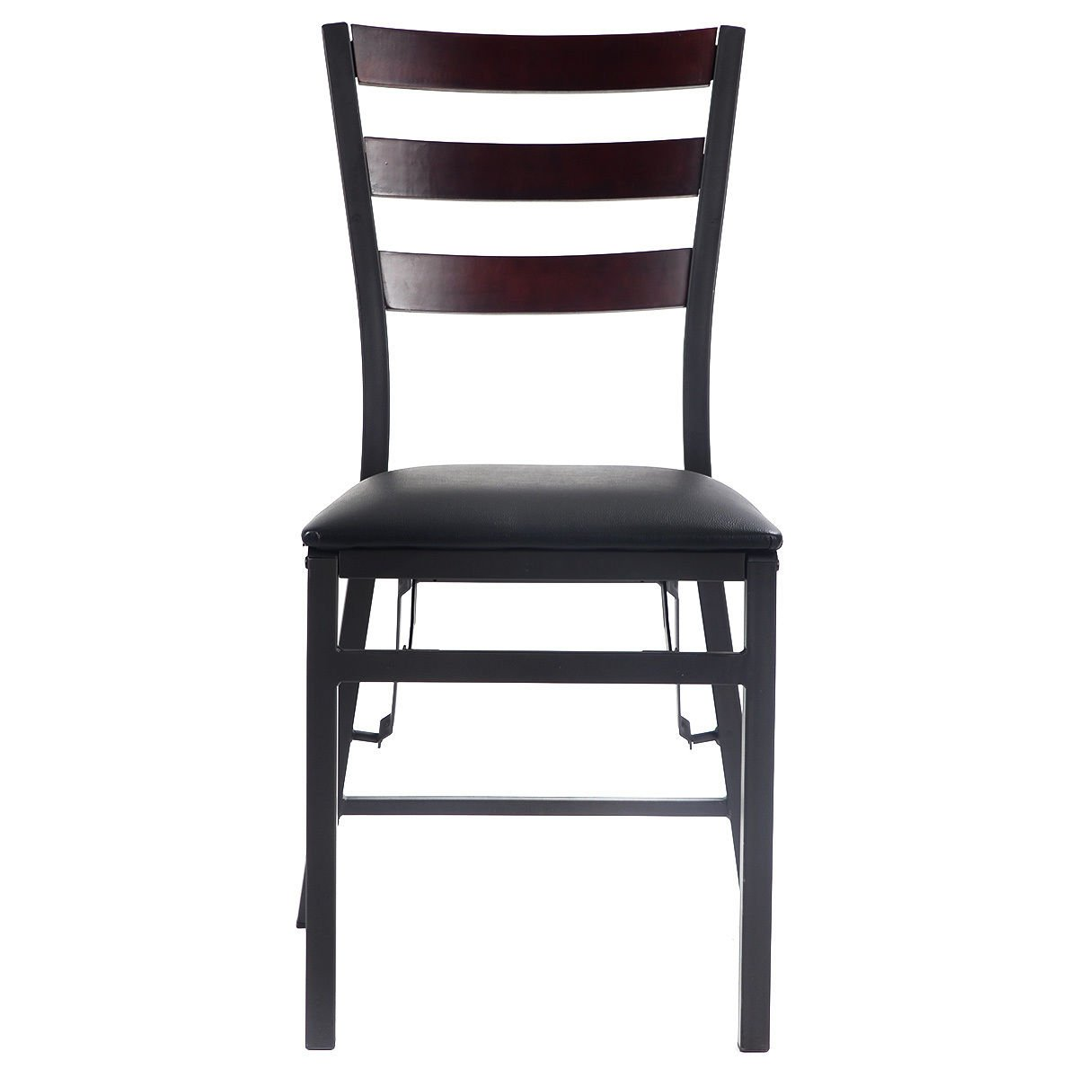 """Giantex Set of 2 Wood Folding Chair Dining Chairs Home Restaurant Furniture Portable (15.6"""" X 17.7"""" X 33.5"""")"""