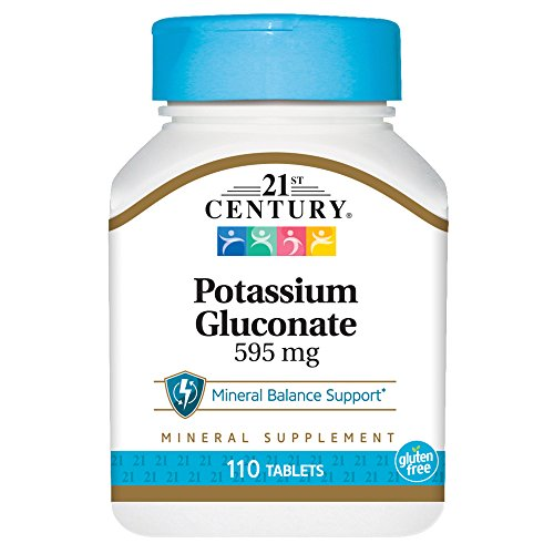 (21st Century Potassium 595 mg Tablets, 110-Count)