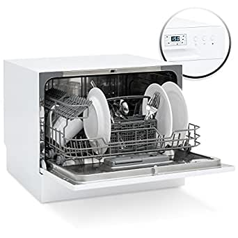 Best Choice Products Small Spaces Kitchen Countertop Portable Dishwasher w/ 6 Wash Cycles and Preset Start Function