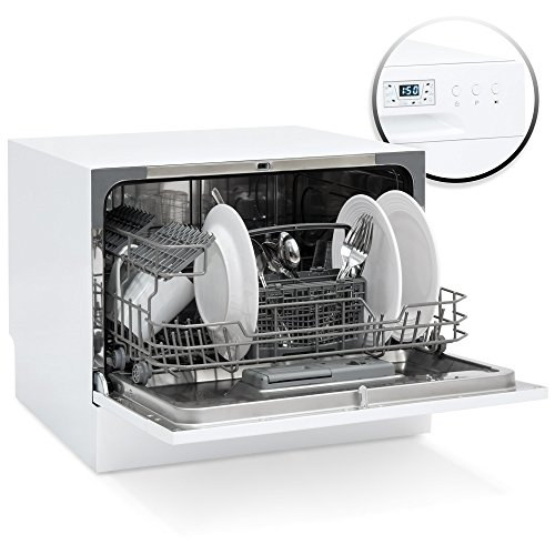 Best Choice Products Small Spaces Kitchen Countertop Portable Dishwasher w/6 Wash Cycles and Preset Start Function