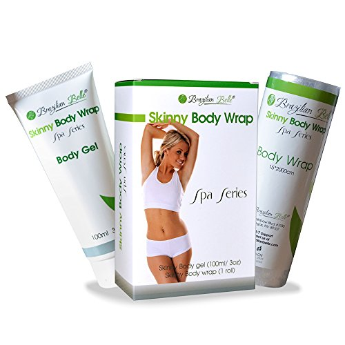 Skinny Gel Body Wraps for Weight Loss with Garcinia Cambogia - Contouring Wraps to Get Rid of Belly Fat and Visibly Reduces The Appearance Of Cellulite and Stretch Marks - Includes 30 Day Diet Plan!