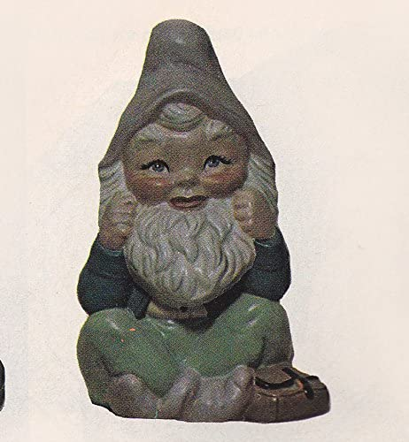 Ready to Paint Gnome Sitting 10 Ceramic Bisque