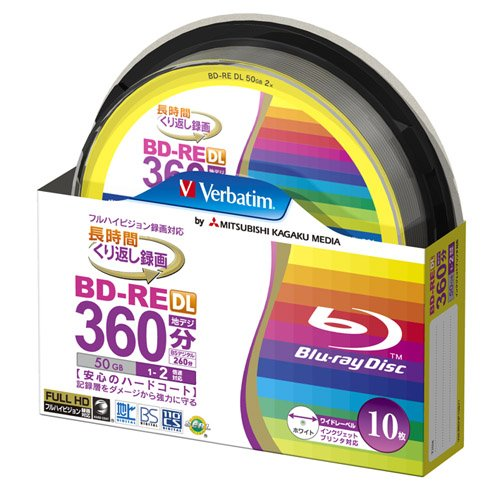 10 Verbatim Bluray Bd-re Dl 50 Gb Rewritable Blueray Original Spindle