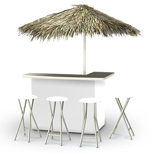 Best of Times Portable Deluxe Bar; Solid White - Palapa