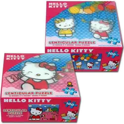Hello Kitty Lenticular Puzzle 100-Piece - Painting