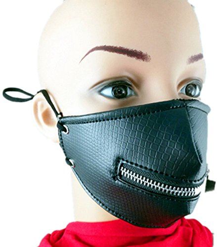 Qiu ping Men and women new show rock performance mask personality zipper motorcycle mask by Qiu ping