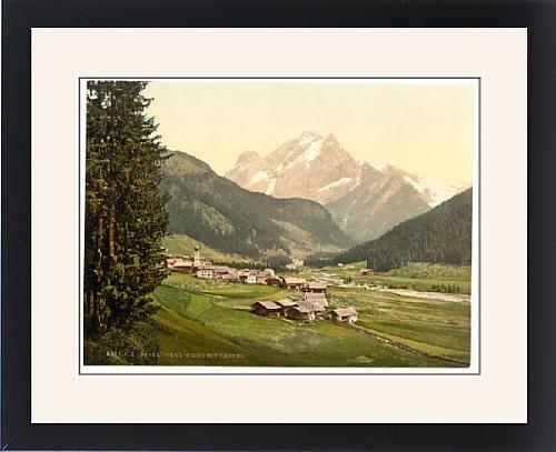 Framed Artwork of Fassathal (i.e., Fassatal), Gries and Vernel, Tyrol, Austro-