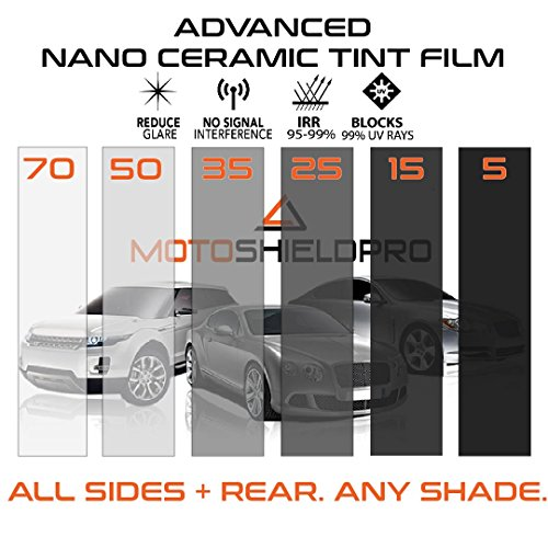 PreCut Ceramic Tint Film for All Sides & Rears Window Film Any Tint Shade by MotoshieldPro Pre Cut Window Tint