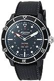 Alpina Men's 'Horological' Quartz Stainless Steel and Rubber Smart Watch, Color:Black (Model: AL-282LBB4V6)
