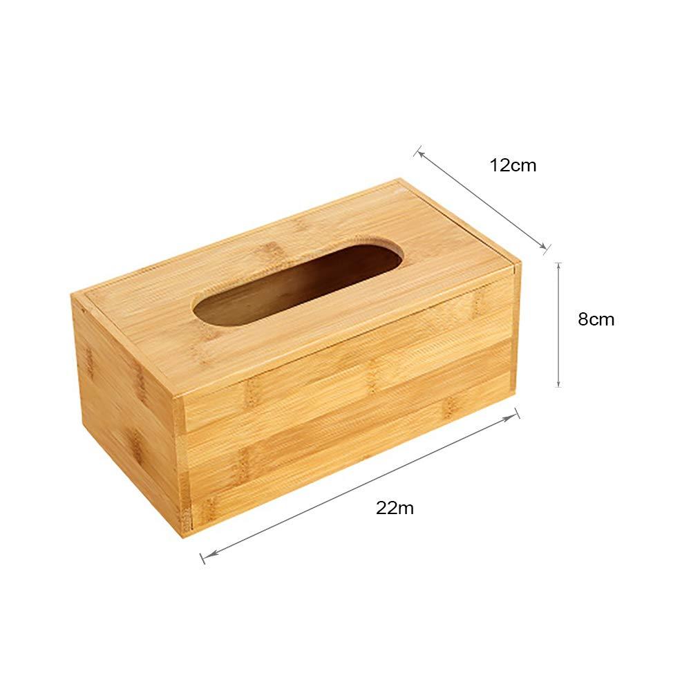 Dormitorio aoory despachador de Toallas de Papel Rectangular de bamb/ú para ba/ño Comedor Estilo A Small