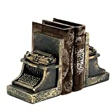 Bellaa 25747 Typewriter Bookend, 7 by 5-inch, Set of 2