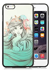Newest iPhone 6 Plus/iPhone 6S Plus TPU Screen Case ,Unique And Fashionable Designed Case With little mermaid Black iPhone 6 Plus/iPhone 6S Plus 5.5 Inch TPU Phone Case