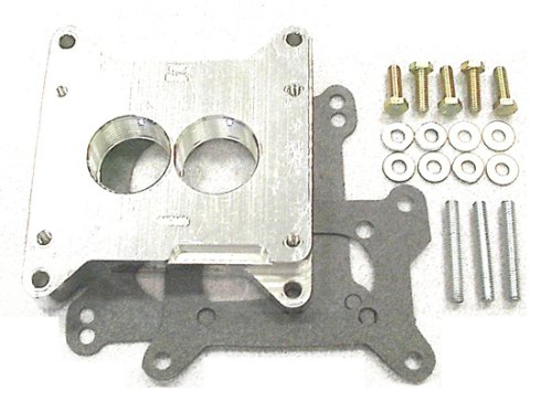 Street and Performance Electronics 0500B Helix Power Tower Plus Carburetor Spacer for Holley 500 cfm 4BBL intake 2BBL carb by Street & Performance Electronics