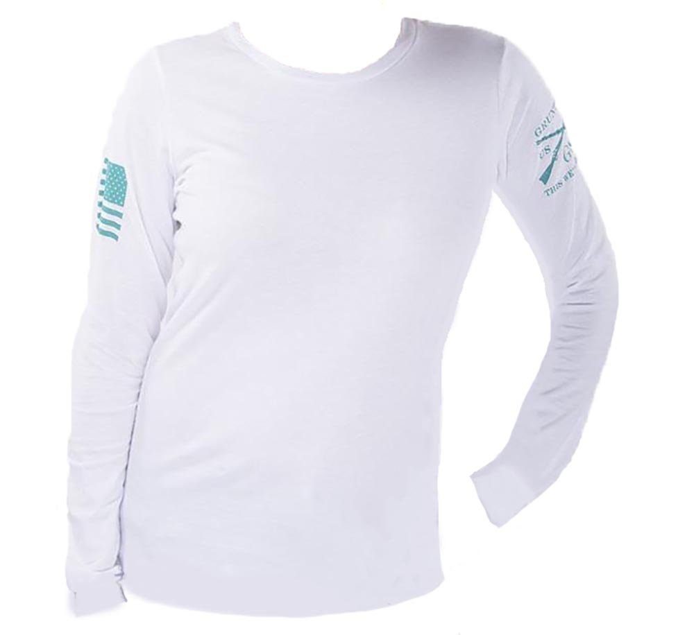 Grunt Style Motorsports L/S Moto Basic Women's T-Shirt, Color White, Size Large by Grunt Style